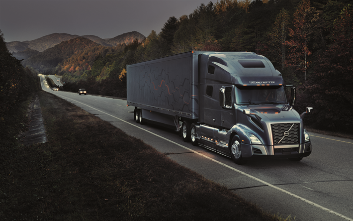 Download wallpapers volvo vnl 4k 2018 trucks darkness new vnl road volvo trucks for - Volvo vnl wallpaper ...