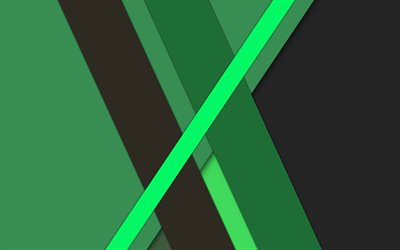 green abstraction, material design, android, geometric abstraction, green lines