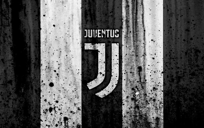 FC Juventus 4k Logo Serie A Juve Stone Texture