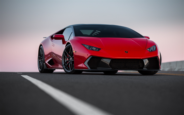 download wallpapers lamborghini huracan novara vag red huracan sports coupe front view. Black Bedroom Furniture Sets. Home Design Ideas