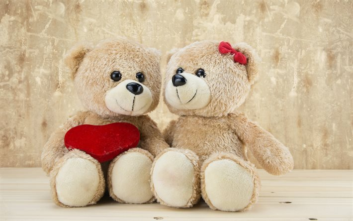 Download Wallpapers Teddy Bears Bears Romance Cute Toys For