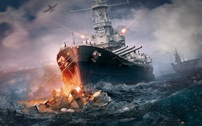 World of Warships, ships, war, second world war, battleship