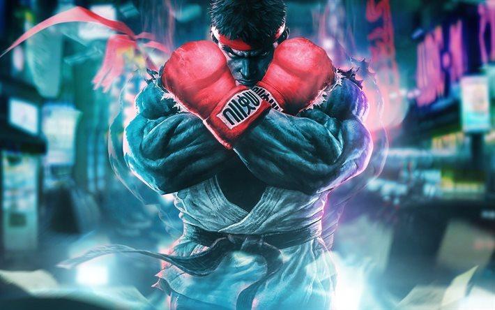 Street Fighter 5 Wallpaper: Download Wallpapers Street Fighter 5, 4k, Fighting Game