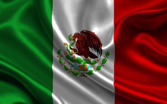 Descargar Fondos De Pantalla Bandera Mexicana, 4k, La Seda