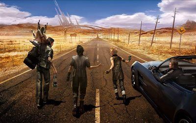 Final Fantasy XV, gameplay, characters