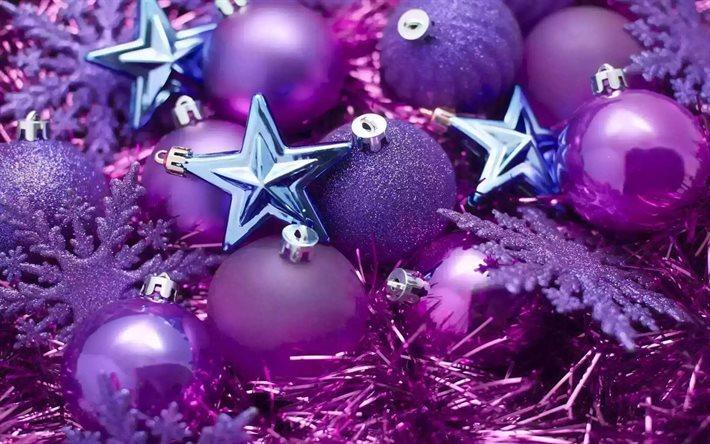 Weihnachtsdeko Lila.Herunterladen Hintergrundbild Neues Jahr Weihnachten Lila
