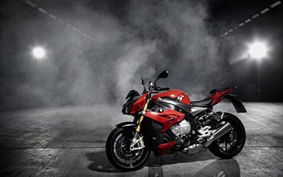BMW S1000R, new motorcycle, BMW, red black motorcycle