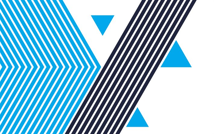 Download wallpapers blue lines retro background, blue ...