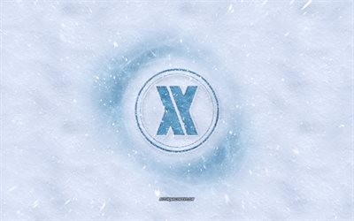 Blasterjaxx logo, winter concepts, snow texture, snow background, Dutch DJ, Blasterjaxx emblem, Thom Jongkind, Idir Makhlaf, winter art, Blasterjaxx
