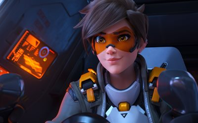 Overwatch 2, 2019, Tracer, portrait, main character, poster, blizzard, game characters, Overwatch