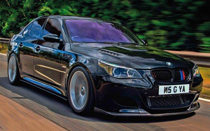 BMW M5, チューニング, E60, 道路, 2010年台, 低仮面ライダー, BMW7シリーズ, BMW E60, ドイツ車, BMW