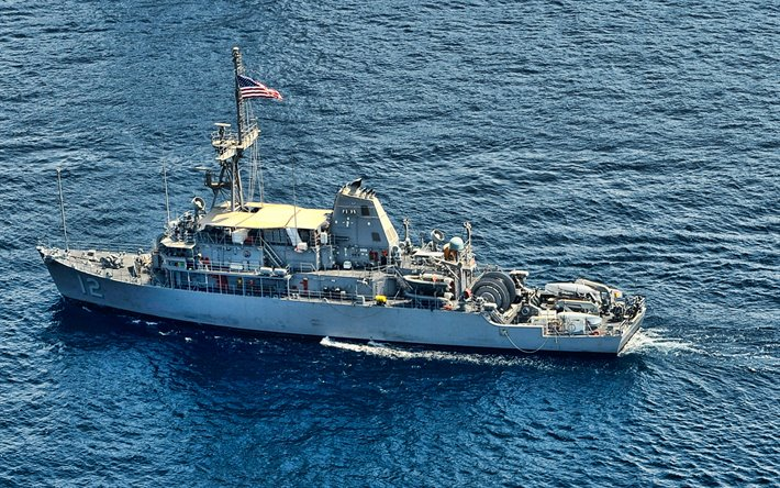 USS Ardent, MCM-12, mine countermeasures ships, United States Navy, US army, battleship, US Navy, Avenger-class, USS Ardent MCM-12
