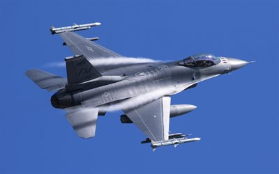 General Dynamics F-16 Fighting Falcon, F-16C, American light fighter, US Navy, military aircraft, American military aircraft