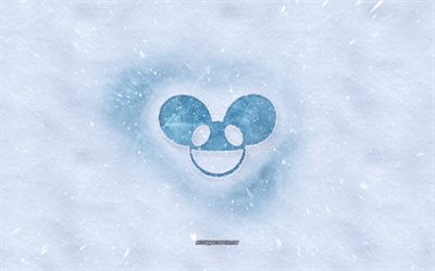 deadmau5 logo, winter concepts, snow texture, snow background, Joel Thomas Zimmerman, Canadian DJ, deadmau5 emblem, winter art, deadmau5