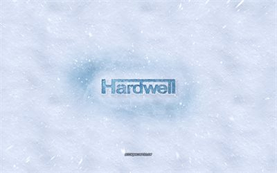 Hardwell logo, winter concepts, Robbert van de Corput, snow texture, snow background, Hardwell emblem, winter art, Hardwell