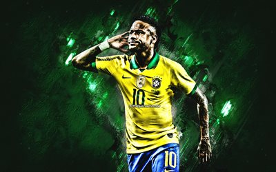 Neymar Jr, Brazil national football team, Brazilian football player, striker, portrait, Brazil, football, Neymar