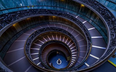 Spiral staircase, Vatican City, Rome, Italy, Vatican Museums