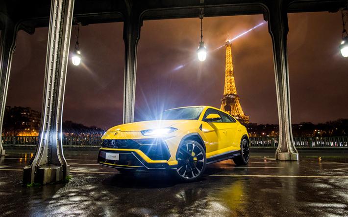 Download Wallpapers 4k Lamborghini Urus Paris Headlights 2018