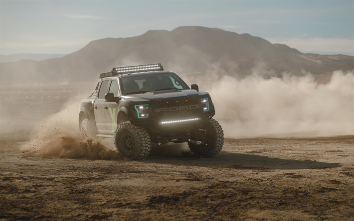 Download wallpapers 4k, Ford F-150 Raptor Xbox One X Edition, dust