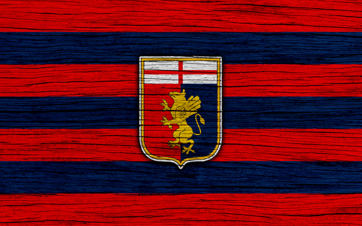 Download wallpapers Genoa, 4k, Serie A, logo, Italy, wooden texture, FC  Genoa, soccer, football, Genoa FC for desktop free. Pictures for desktop  free