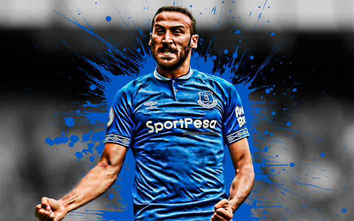 Download Wallpapers Cenk Tosun, 4k, Turkish Football