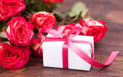 Valentines Day, gift, February 14, red roses, romantic gift