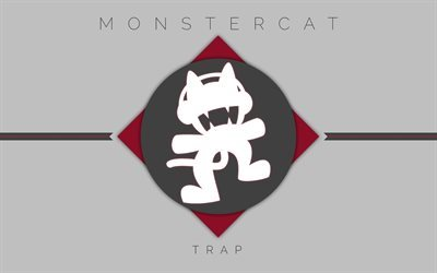Monstercat, logo, gray background, Record Label