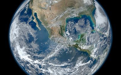 Earth, Planet, space, North America, the Pacific Ocean