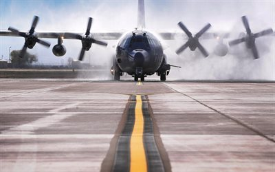 Lockheed AC-130W Stinger II, transport planes, runway, military aircraft, MC-130W Dragon Spear