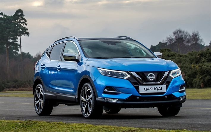 Download wallpapers nissan qashqai 2017 cars crossovers blue qashqai road nissan for - Nissan qashqai 2017 interior ...
