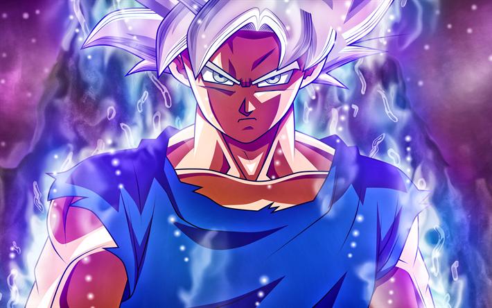 Télécharger fonds d'écran Super Saiyan Argent, Ultra Instinct, 4k, Dragon Ball, DBS, manga ...