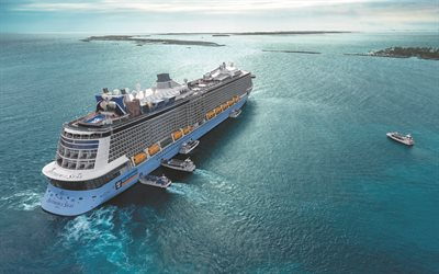 Anthem of the Seas, la nave da crociera di lusso, Mar dei Caraibi, una grande nave Royal Caraibi Classe Quantum