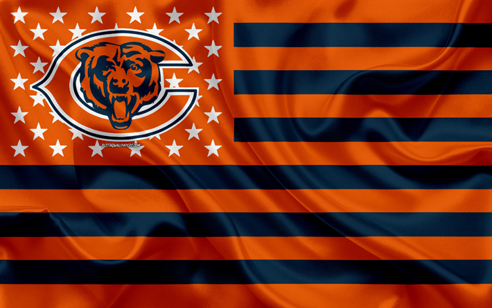 Download Wallpapers Chicago Bears American Football Team