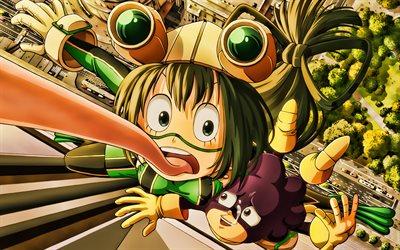 Download Wallpapers Tsuyu Asui Minoru Mineta My Hero