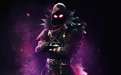 Raven, darkness, Fortnite, 2019 games, warrior, Fortnite Battle Royale, Fortnite characters