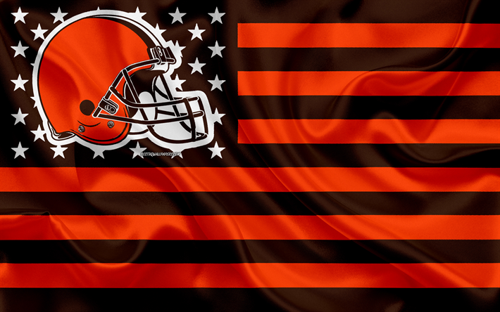 Download Wallpapers Cleveland Browns American Football Team