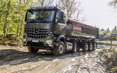 Mercedes-Benz Arocs, 2019, dump truck, new truck, Arocs, German trucks, Mercedes