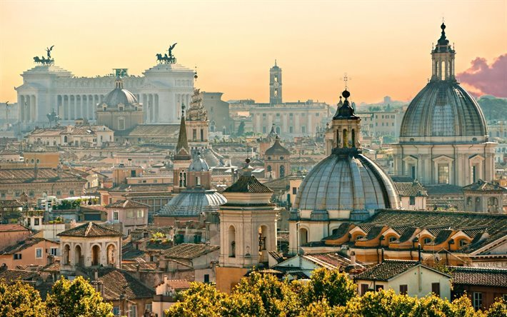 Rome, cityscapes, evening, Italy