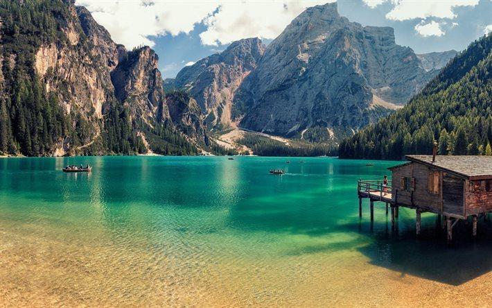 Scarica Sfondi In Italia Lestate Il Lago Di Bryes Montagna