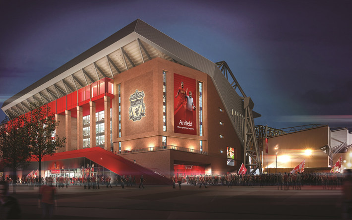 Download Wallpapers Liverpool FC, Anfield Road, Football
