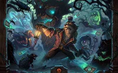 The Witchwood, 2018, poster, new games, Hearthstone Heroes of Warcraft