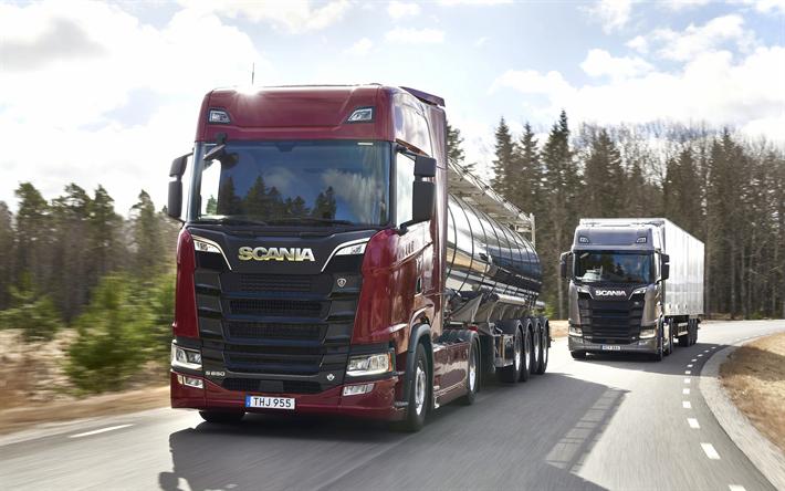 Download Wallpapers Scania S650 2018 Lkw V8 New Trucks