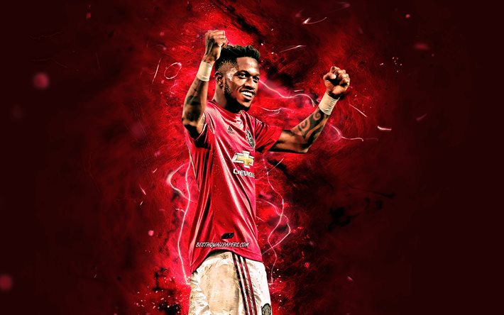 Download Wallpapers Fred 2020 Manchester United Fc Brazilian Footballers Premier League Frederico Rodrigues De Paula Santos Neon Lights Soccer Football Man United Fred Man Utd For Desktop Free Pictures For Desktop Free