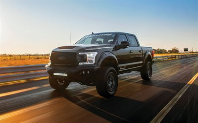 Hennessey Venom 775 Supercharged, 2020, Ford F-150, front view, large SUV, tuning F-150, new black F-150, american cars, Ford
