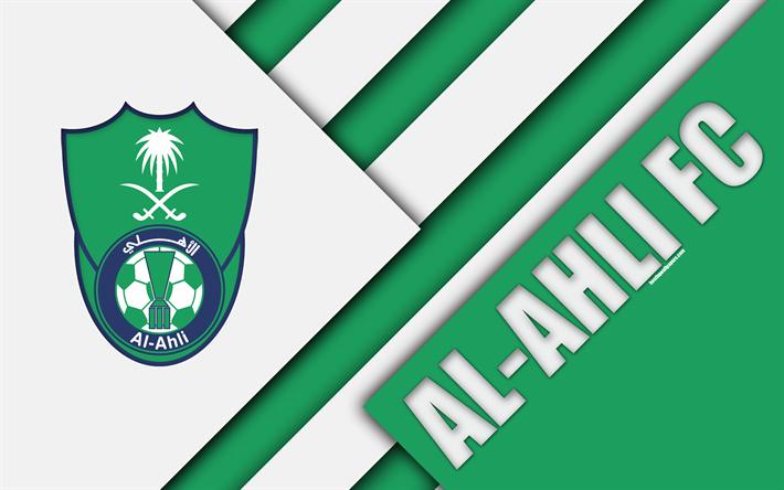 Descargar Fondos De Pantalla Al Ahli De Arabia Fc 4k Verde Blanco Abstracci N Logotipo