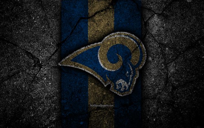 Los Angeles Rams, logo, black stone