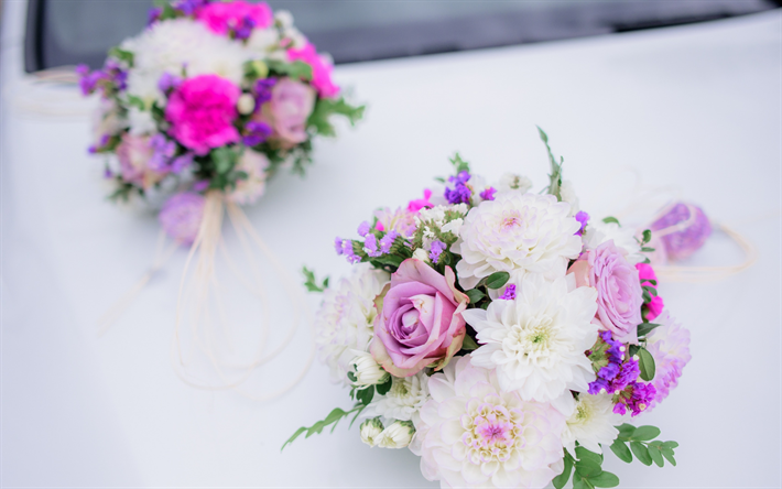 Download wallpapers wedding bouquet roses white chrysanthemums wedding bouquet roses white chrysanthemums wedding concepts purple roses beautiful flowers mightylinksfo