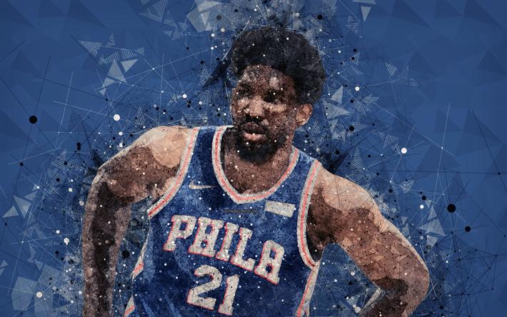 Download Wallpapers Joel Embiid Philadelphia 76ers 4k