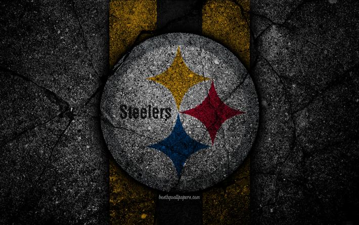 Download Wallpapers 4k Pittsburgh Steelers Logo Black
