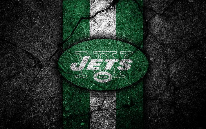 4k New York Jets Logo Black Stone NFL American Football